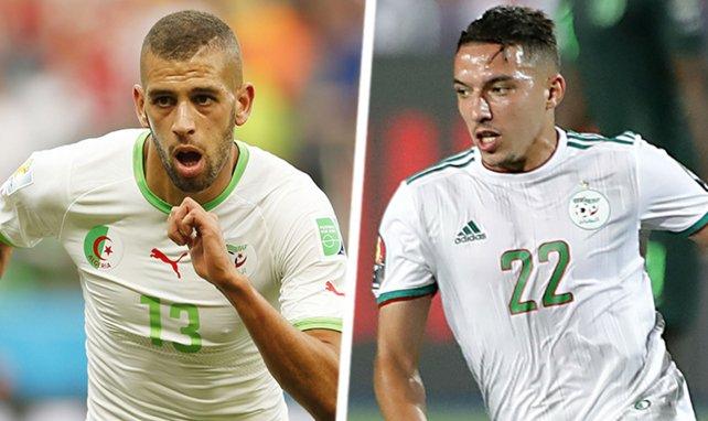 Slimani et Bennacer sous le maillot de l'Algérie