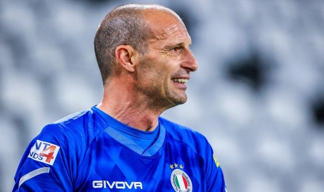 Massimiliano Allegri pendant un match en mai 2021