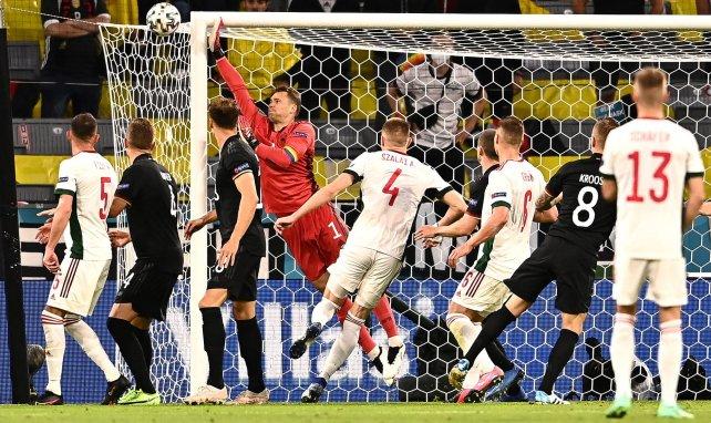 Match fou entre l'Allemagne et la Hongrie