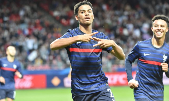 Amine Adli sous le maillot de l'équipe de France U-21
