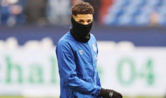 Amine Harit pendant un échauffement d'avant-match début mars