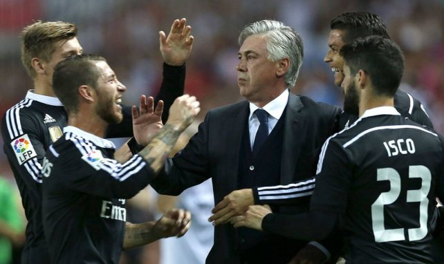 Carlo Ancelotti lorsqu'il entraînait le Real Madrid
