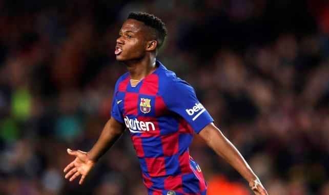 Ansu Fati sous le maillot du FC Barcelone