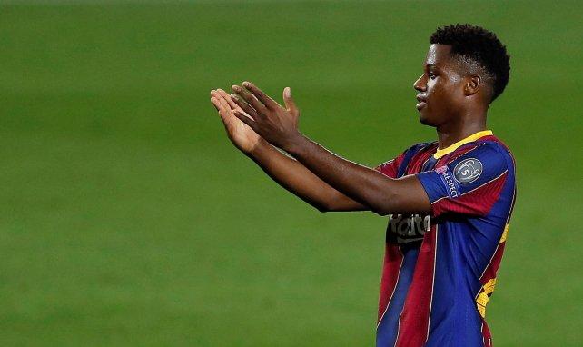 Ansu Fati sous le maillot du Barça