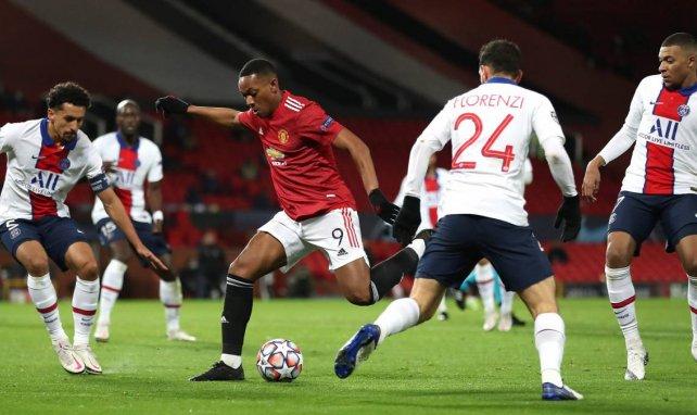 Anthony Martial sous les couleurs de Manchester United face au PSG