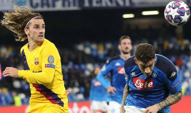 Antoine Griezmann face au Napoli