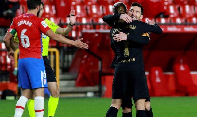 Antoine Griezmann et Lionel Messi sont heureux