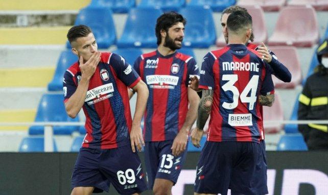 Arkadiusz Reca (à gauche) après son but contre La Spezia