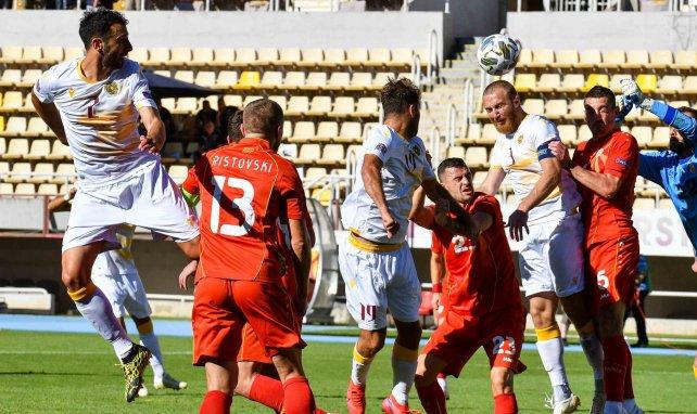 L'Arménie lors du match aller face à la Macédoine du Nord