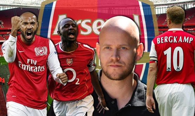 Thierry Henry, Patrick Vieira, Daniel Ek et Dennis Bergkamp