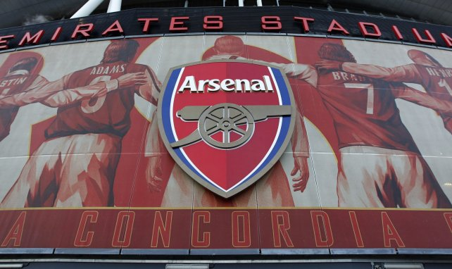 Le logo d'Arsenal sur l'Emirates Stadium