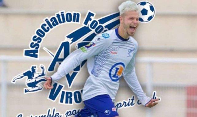 Arthur Dallois, ici sous le maillot de l'AF Virois, file à Rouen