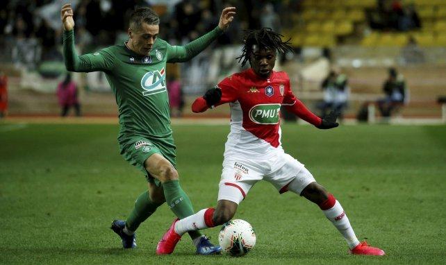 Arthur Zagre en plein match de Coupe de France avec l'ASM
