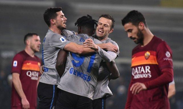 Les joueurs de l'Atalanta célèbrent face à la Roma