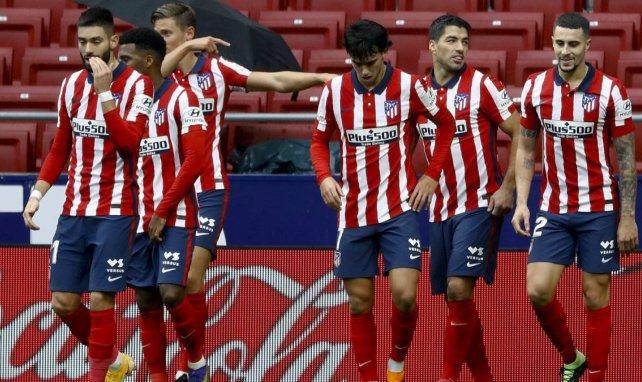 Les joueurs de l'Atlético de Madrid fêtent un but