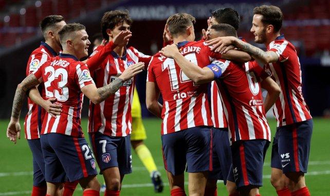 Les joueurs de l'Atlético célèbrent un but face à Cadiz