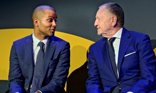 Jean-Michel Aulas et Tony Parker au Groupama Stadium