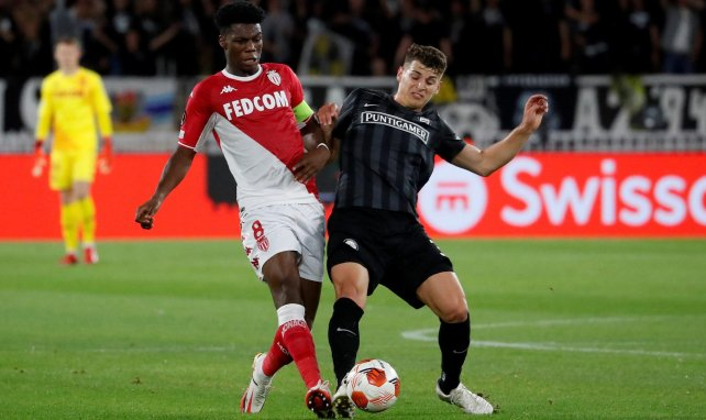 Aurélien Tchouaméni sous le maillot de l'AS Monaco.