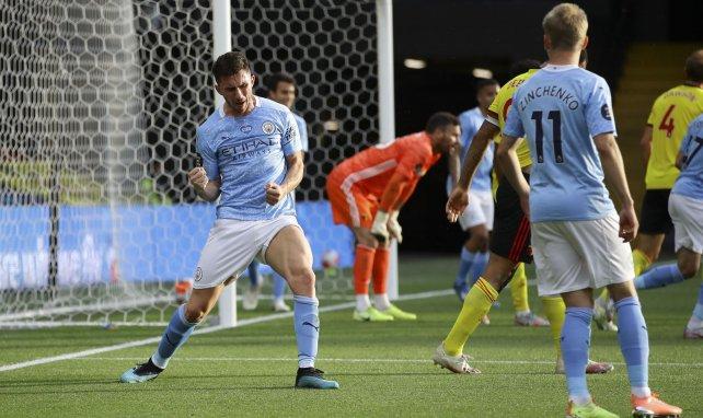Aymeric Laporte célèbre son but lors de Watford-Manchester City