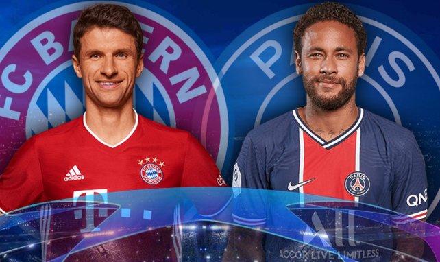Thomas Müller (Bayern Munich) et Neymar (PSG)