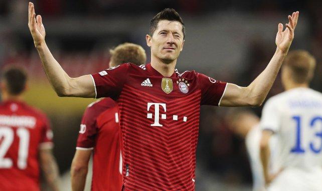 Robert Lewandowski sous le maillot du Bayern Munich
