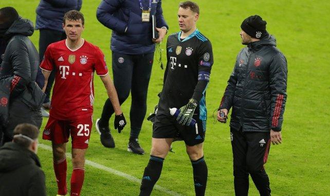 Thomas Müller et Manuel Neuer déçus après la défaite face au PSG