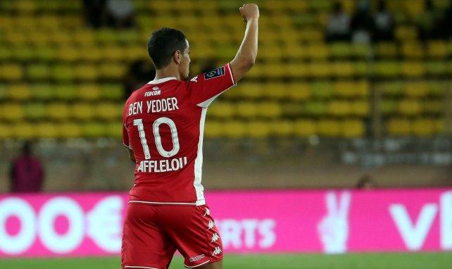 Wissam Ben Yedder après un but avec l'AS Monaco au Stade Louis-II