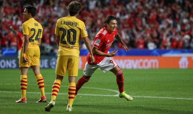 La joie de Darwin Nunez, auteur de l'ouverture du score contre le FC Barcelone.