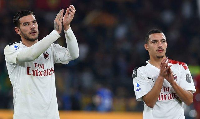 Ismaël Bennacer et Théo Hernandez avec l'AC Milan en championnat