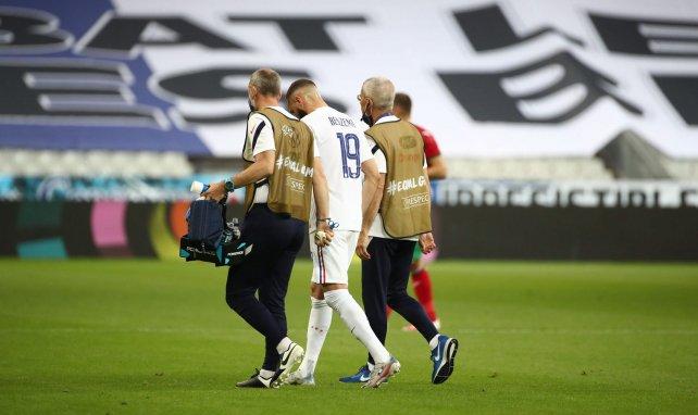 Karim Benzema sort sur blessure contre la Bulgarie