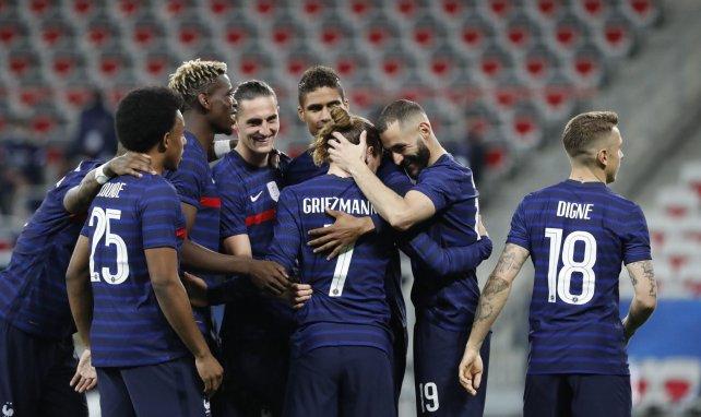 Les Bleus célèbrent le but d'Antoine Griezmann