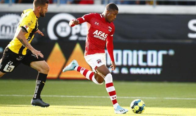 Myron Boadu sous les couleurs de son club formateur de l'AZ Alkmaar