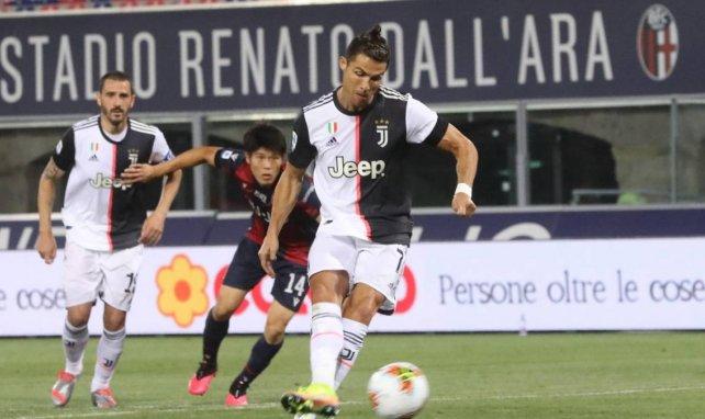 Cristiano Ronaldo a transformé un penalty obtenu par Adrien Rabiot face à Bologne