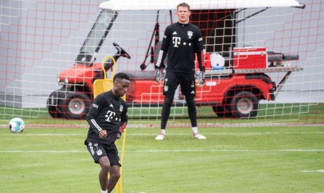 Bouna Sarr lors d'un entraînement du Bayern Munich