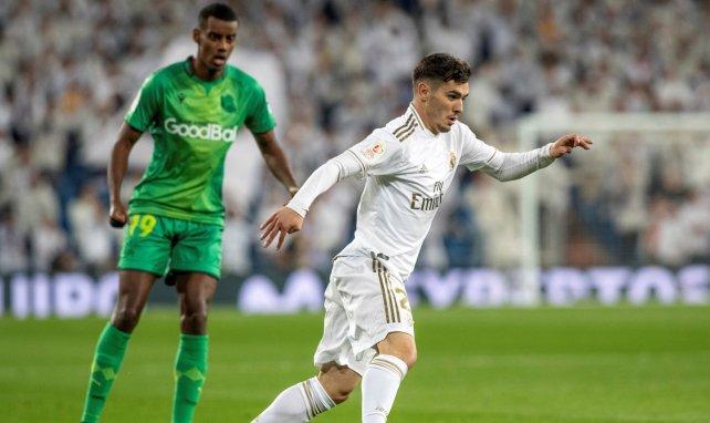 Brahim Diaz lors d'un match avec le Real Madrid