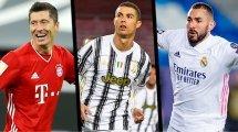 Lewandowski, CR7 et Benzema, rois des buteurs en LdC