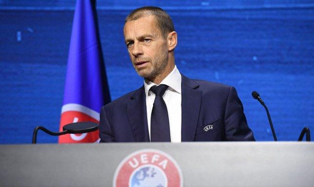 Aleksander Ceferin lors du Congrés de l'UEFA le 20 avril 2021