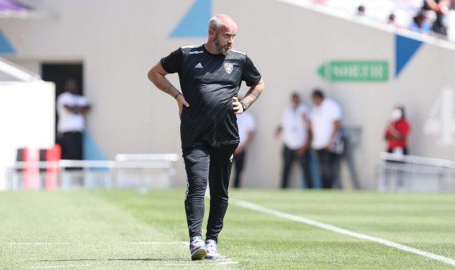 Mathieu Chabert, alors entraîneur du SC Bastia
