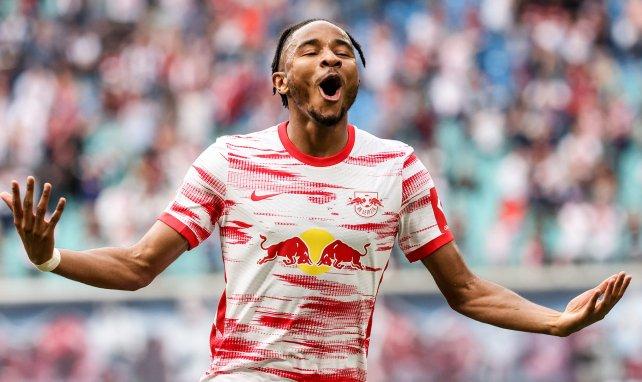 Christopher Nkunku sous le maillot du RB Leipzig
