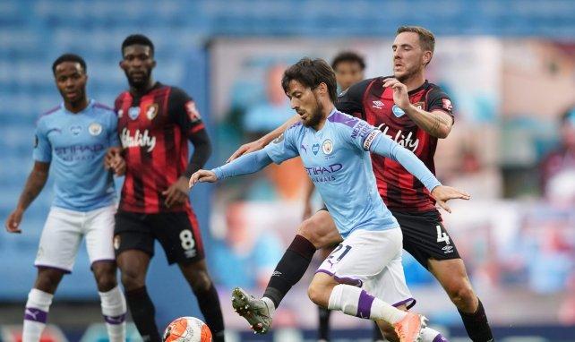 David Silva avec Manchester City