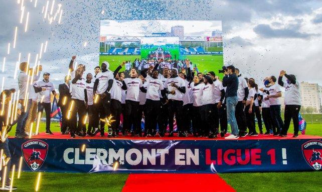 Le Clermont Foot 63 célèbre sa montée en Ligue 1
