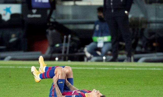 Philippe Coutinho est sorti touché au genou face à Eibar