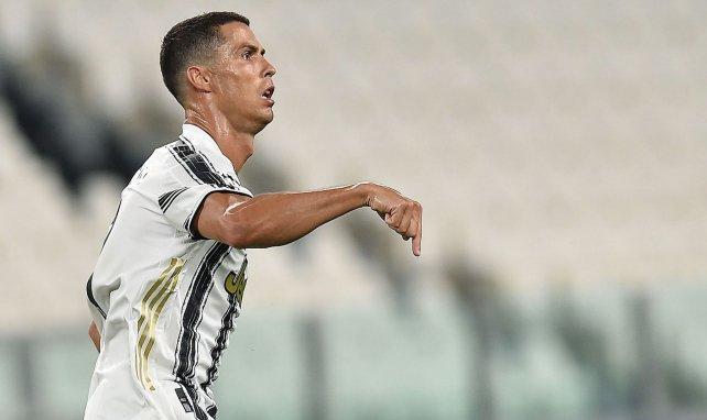 Cristiano Ronaldo après une réalisation avec la Juventus Turin