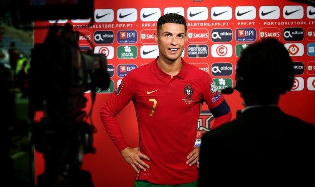 Cristiano Ronaldo face à la presse