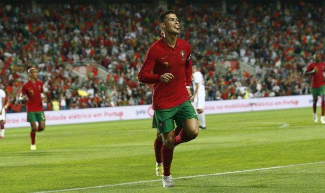 Cristiano Ronaldo juste après son but contre le Qatar en amical