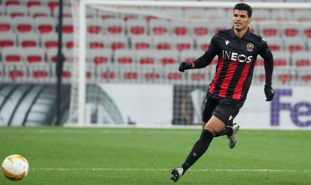 Danilo sous le maillot de l'OGC Nice en Ligue Europa