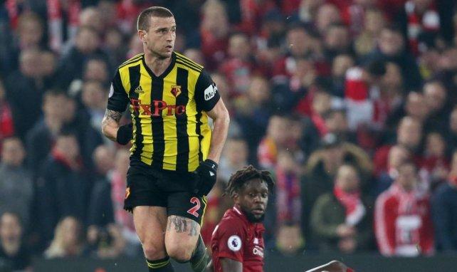Daryl Janmaat face à Liverpool avec Watford