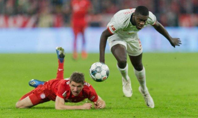 Dayot Upamecano lors d'un match face au Bayern Munich