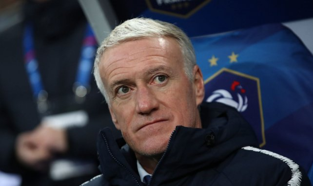Didier Deschamps lors d'un match de l'Equipe de France
