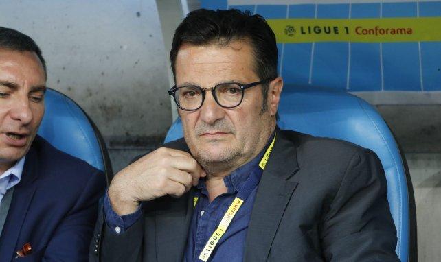 Didier Quillot, l'ex-directeur général de la LFP, avant un match entre l'OM et Toulouse en août 2018